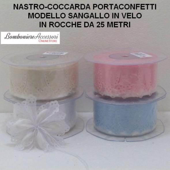 COCCARDA PORTACONFETTI MODELLO SANGALLO - METRI 25