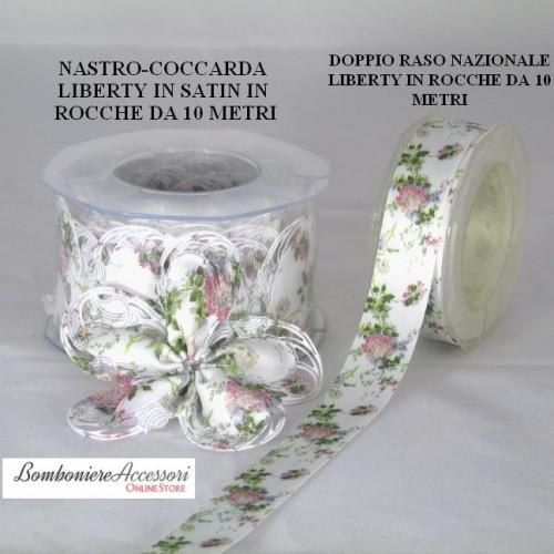COCCARDA PORTACONFETTI LIBERTY IN SATIN - METRI 10