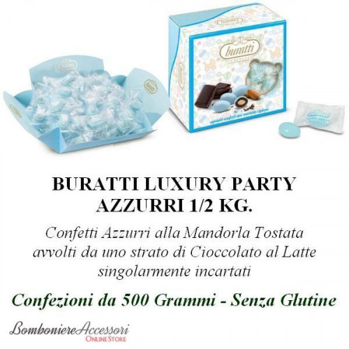 CONFETTI TENEREZZE LUXURY PARTY AZZURRI INCARTATI